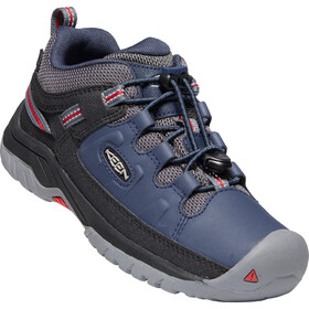Keen Targhee Low WP Shoes Youth, blue nights/red carpet